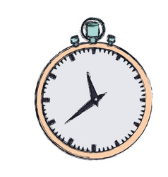 hand drawing color graphic of simple stopwatch vector image