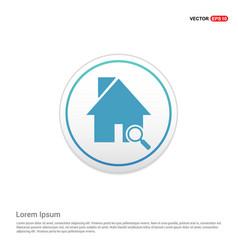 home icon - white circle button vector image