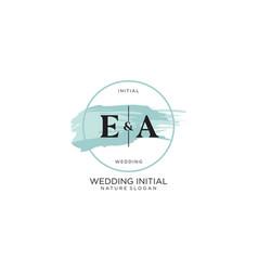 Initial ea letter beauty logo handwriting vector