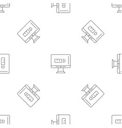 internet social media pattern seamless vector image