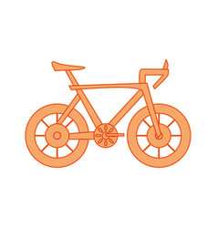 isolatedcute bicyle vector image