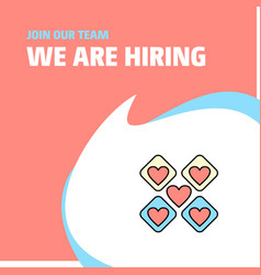 Join our team busienss company hearts blocks we vector