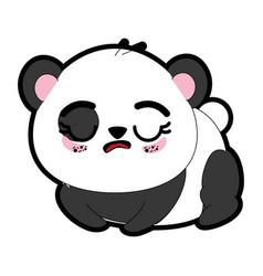 kawaii panda bear icon vector image