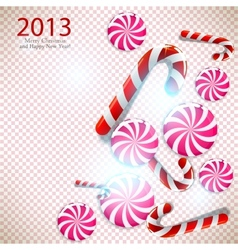 Merry Christmas and Happy new year 2013 background vector image vector image