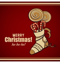 Merry Christmas Lollipops vector image