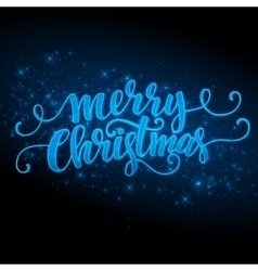 Merry Christmas made a sparkler vector image