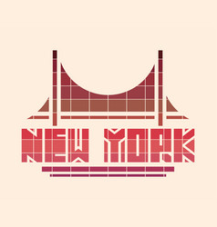 New york city creative typography poster concept vector