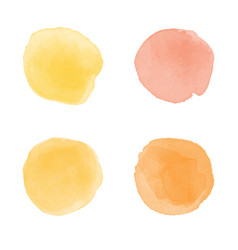 Orange watercolor splash vector