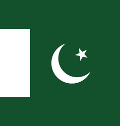 pakistan flag icon in flat style national sign vector image