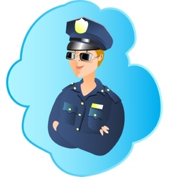Police profession vector image