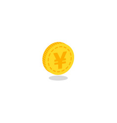 realistic gold coin icon vector image