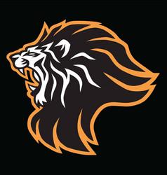 Roaring lion head esports mascot logo icon vector
