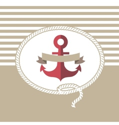 Sea card with anchor vector