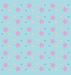 seamless bright abstract pattern with stars vector image