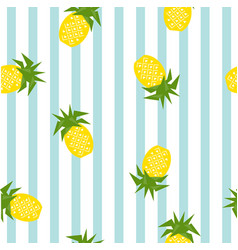 Seamless striped pineapple geometric pattern vector