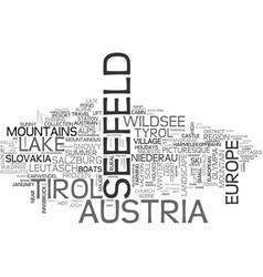 Seefeld word cloud concept vector