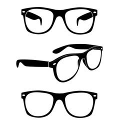 set glasses vector image