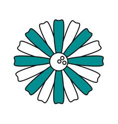 single blue flower icon image vector image