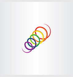 spring icon spiral colorful logo vector image