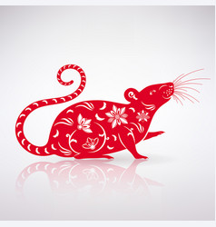 Stylized rat icon vector