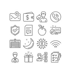 Survey checklist wifi and parking garage icons vector