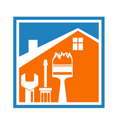 symbol repair and construction of homes vector image