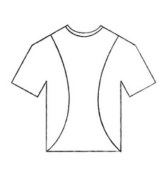 t shirt uniform sport clothes icon vector image