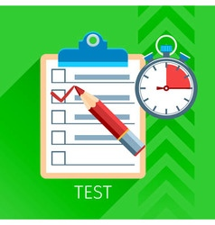 Test Flat Icon Set vector