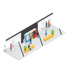 Vending machines isometric concept vector