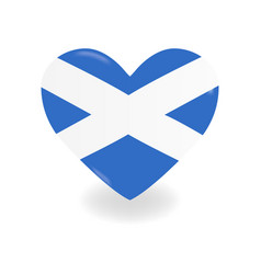 Volumetric scotland heart on white background vector