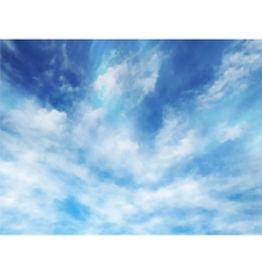 Wispy clouds vector