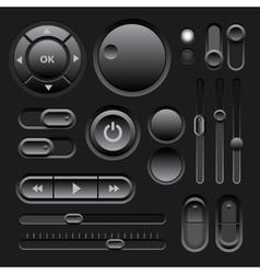 Black Web UI Elements Design vector image