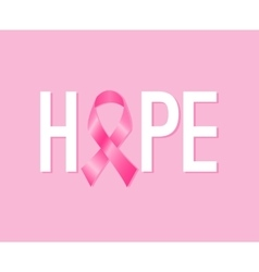 Breast cancer awareness month poster vector image vector image