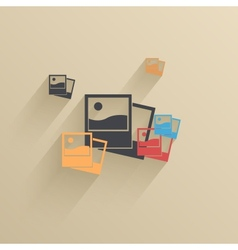 creative flat ui icon background Eps 10 vector image vector image