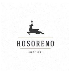 deer design element in vintage style for logo vector image vector image
