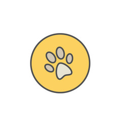 dog trail or paw print colorful icon vector image vector image