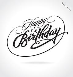 HAPPY BIRTHDAY hand lettering vector image