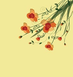 The flower vine vector image