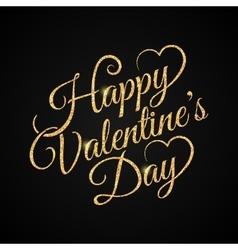 valentine day vintage lettering gold background vector image vector image