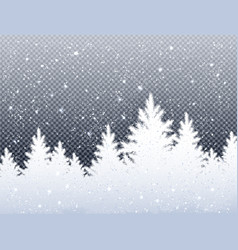 winter christmas landscape with icy spruce forest vector image