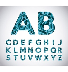 alphabet origami vector image