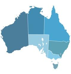 Australia silhouette map vector image vector image
