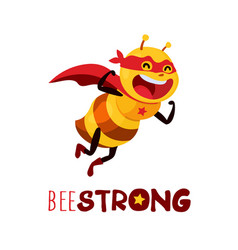 bee strong vector image