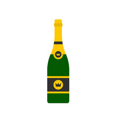 champagne icon flat style vector image