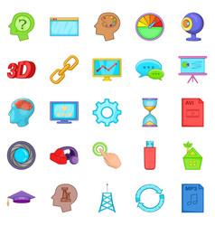 progress icons set cartoon style vector image