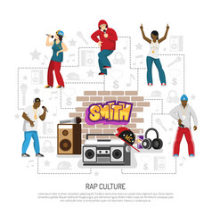 rap music singers symbols background vector image