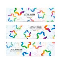 ribbon stars header vector image vector image