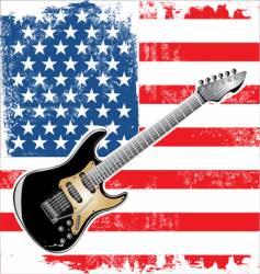 usa guitar american vector image