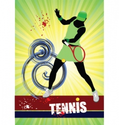 woman's tennis poster vector image vector image