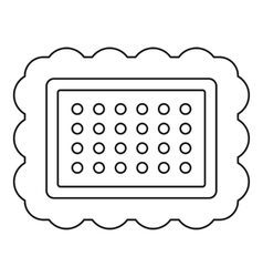 Butter biscui icon outline style vector